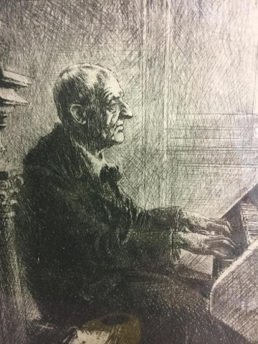 Framed Print Of Clergy Playing the Church Organ