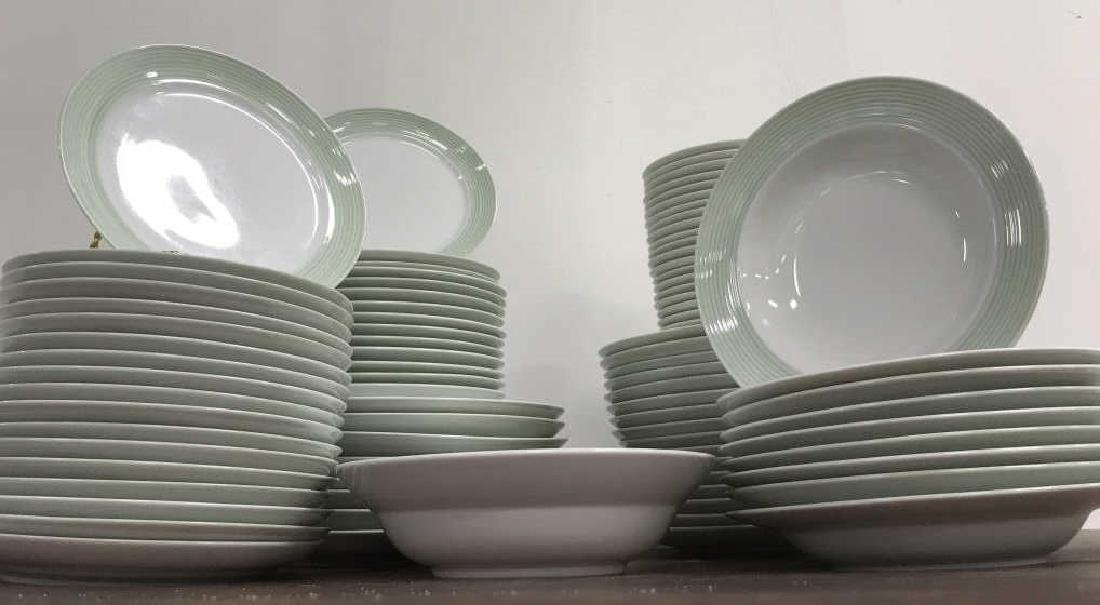 Large Collection of CRATE & BARREL Plate Set - 3