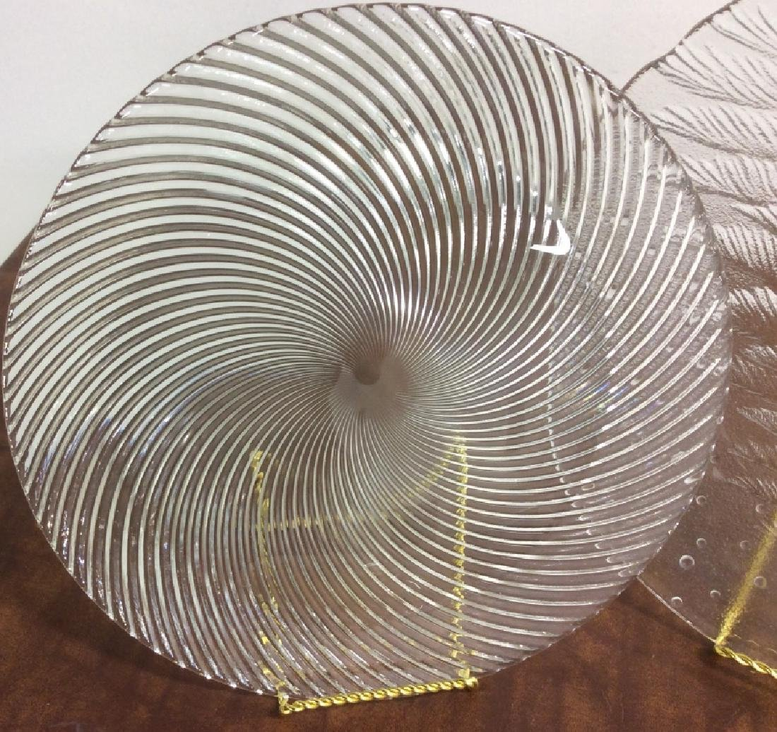 Group Lot Glass Ceramic Serving Platters - 6
