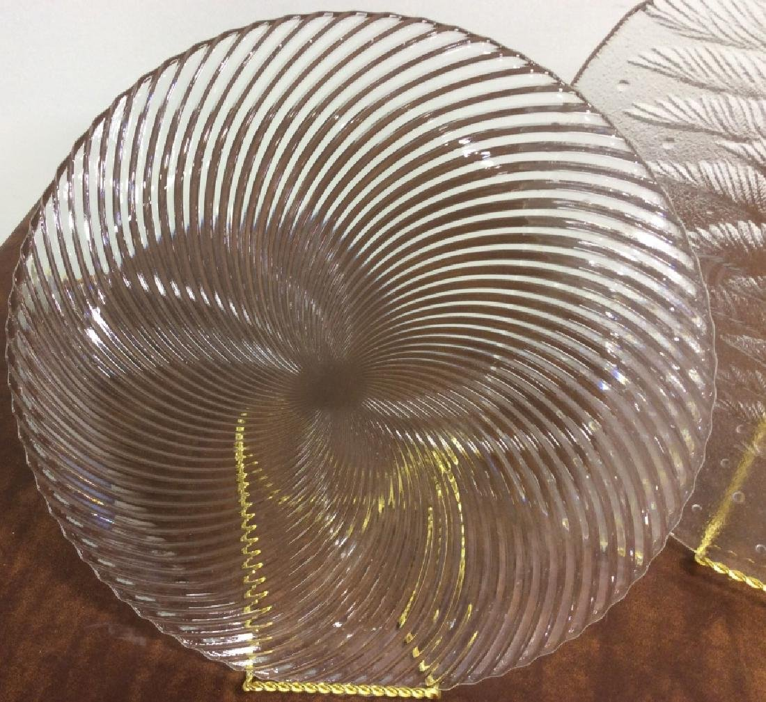 Group Lot Glass Ceramic Serving Platters - 7