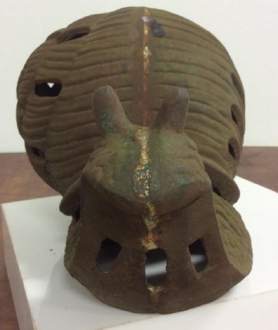 Vintage Cast Iron Garden Sculpture Of Snail - 3