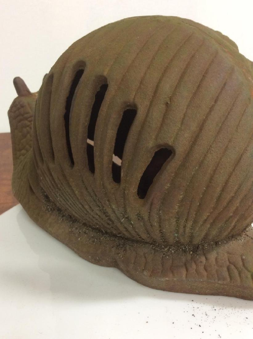 Vintage Cast Iron Garden Sculpture Of Snail - 7