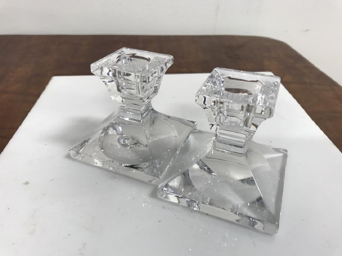 Two Pair Crystal Glass candlesticks - 3