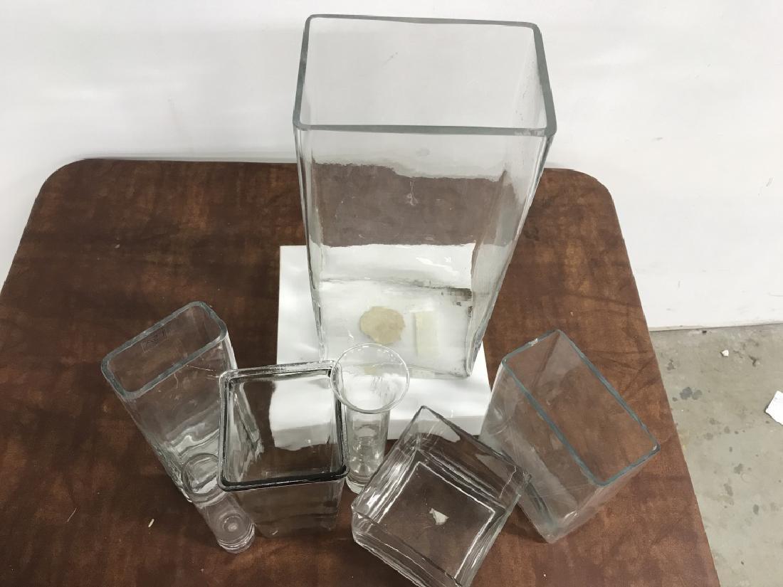 Group Lot of 7 Modern Glass Vases - 3