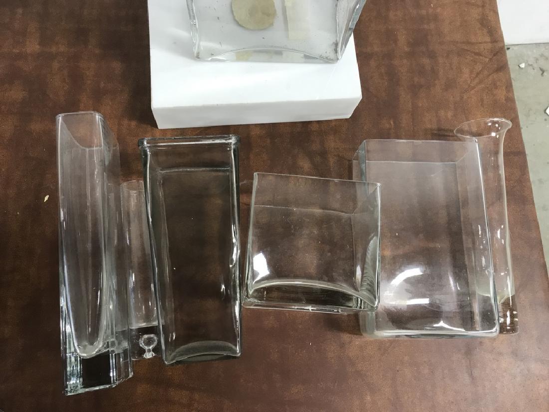 Group Lot of 7 Modern Glass Vases - 7
