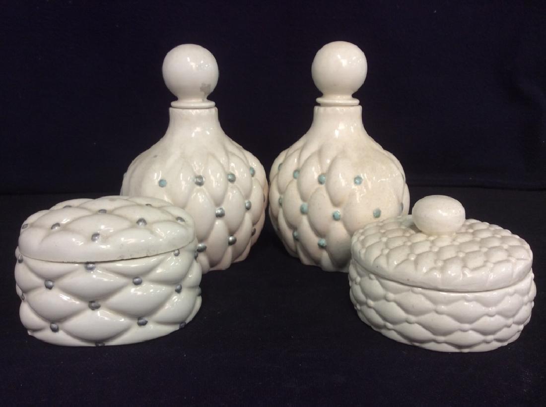 Ladies Vintage Ceramic Vanity Set