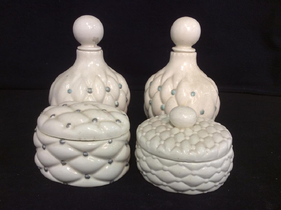 Ladies Vintage Ceramic Vanity Set - 2