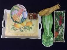 Group Lot Vintage Kitchenware Tableware