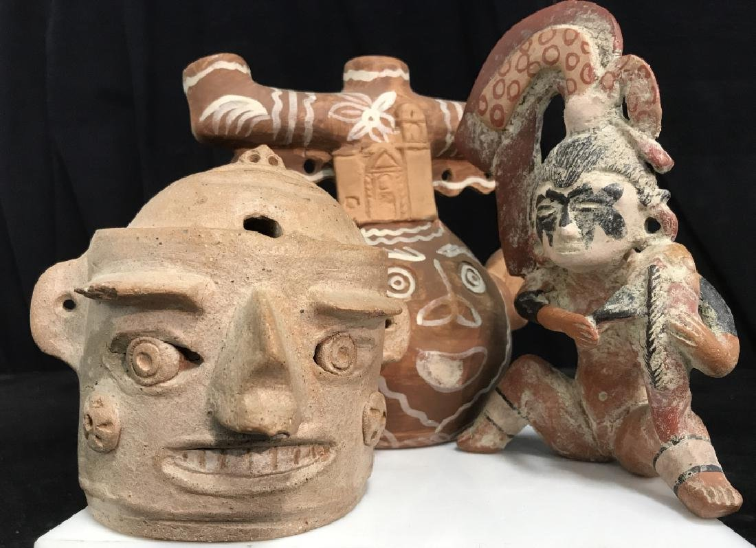 Group Of Precolumbian Style Figures