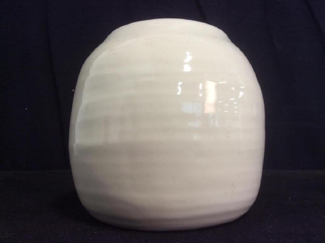 Pair of Cream Tone Ceramic Vases / Planters - 6