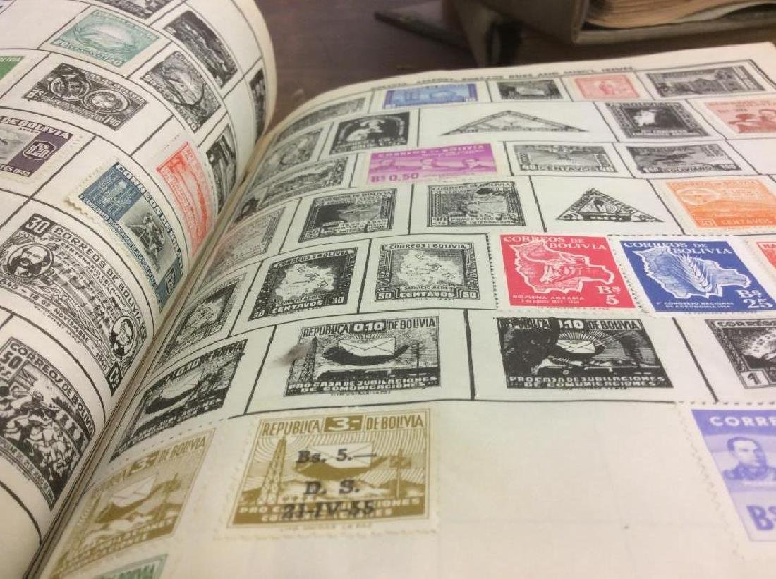 Group Lot Collectible Vintage Stamps w Albums