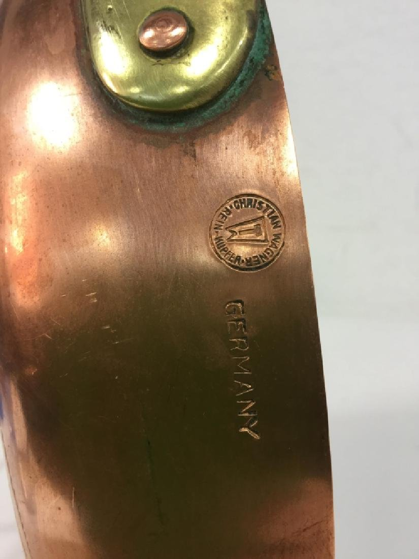 German Copper Frying Pan - 5