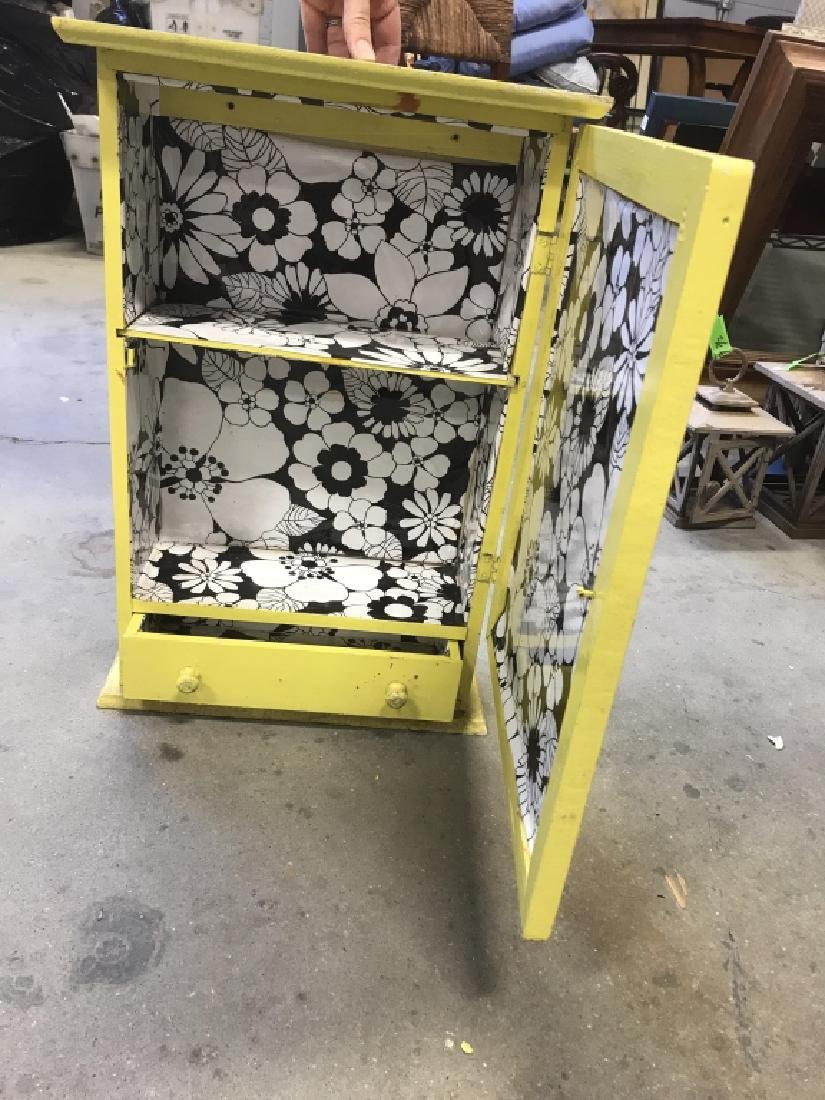 Yellow Painted Wood Medicine Cabinet - 4