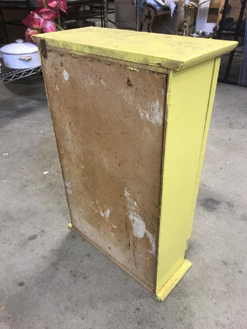 Yellow Painted Wood Medicine Cabinet - 9