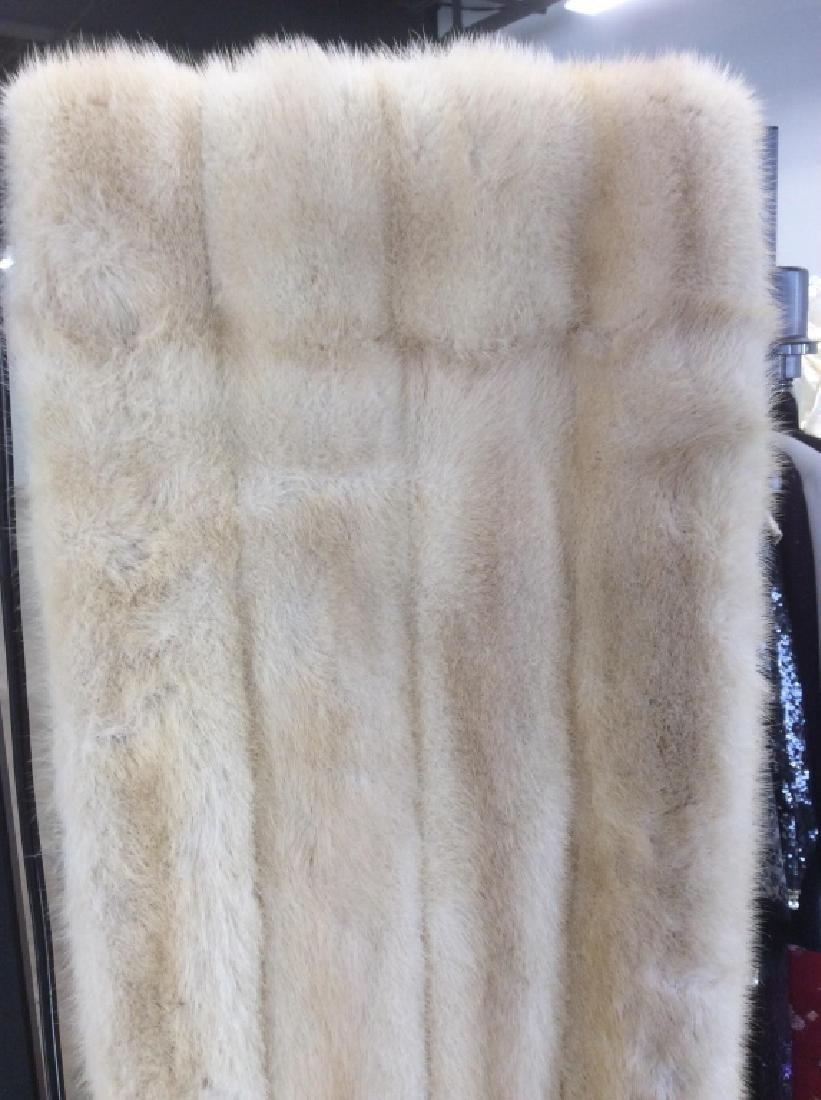 Dyed Mink Fur Stole Cape Drape