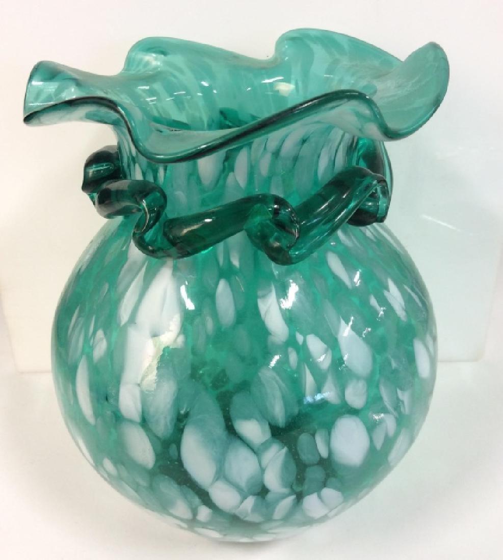 Light Blue Toned Art Glass Vase