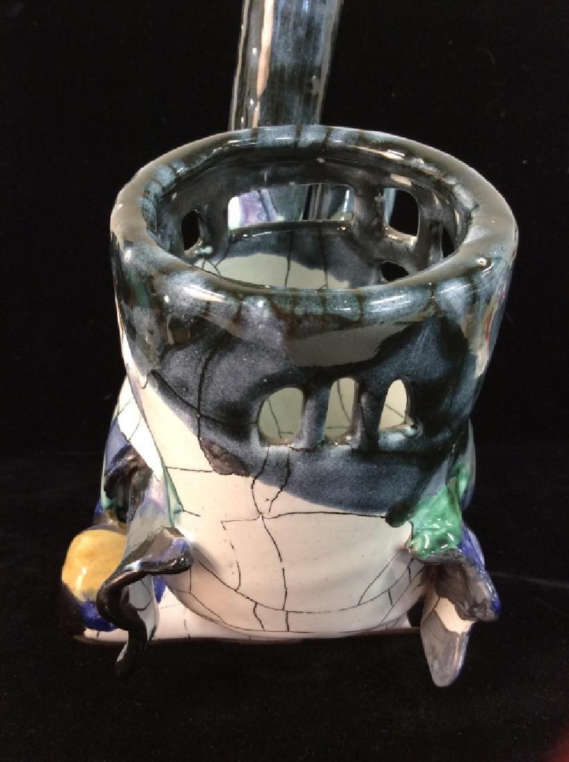 Handcrafted Studio Art Pottery Train Statue - 6