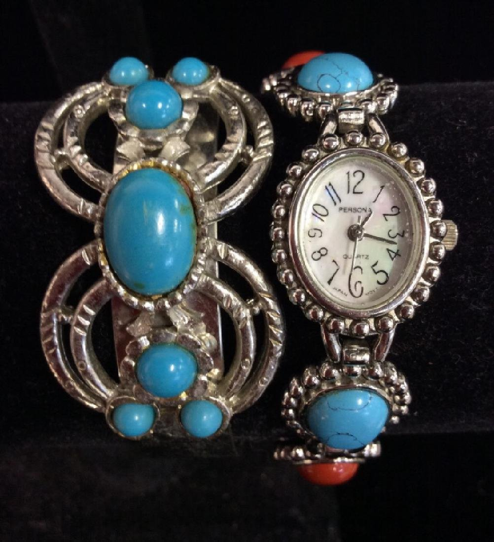 Lot 2 Turquoise Style Stone Jewelry