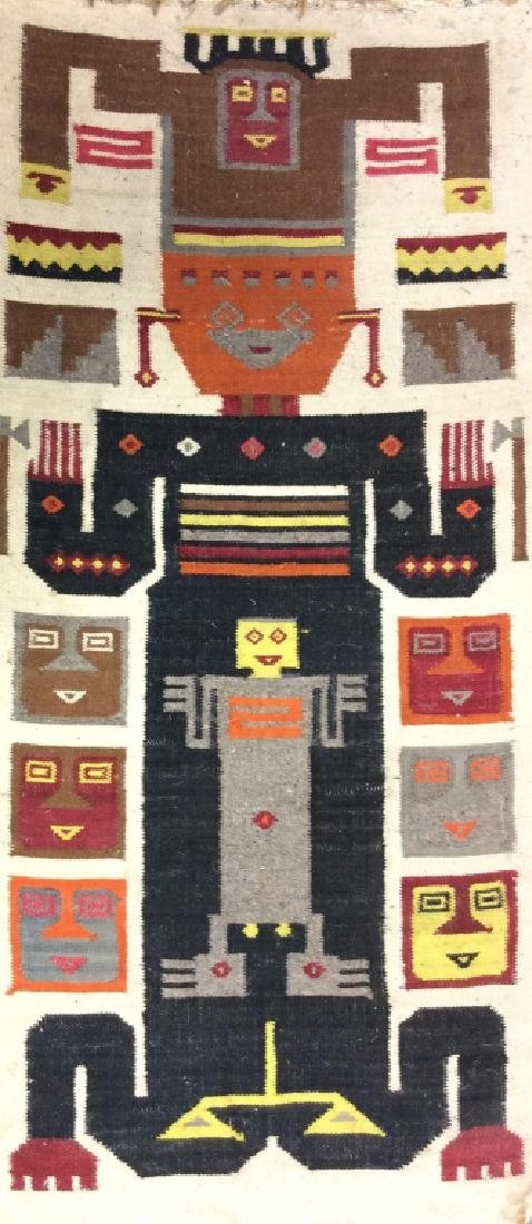 Primitive/Tribal Style Folk Art Tapestry