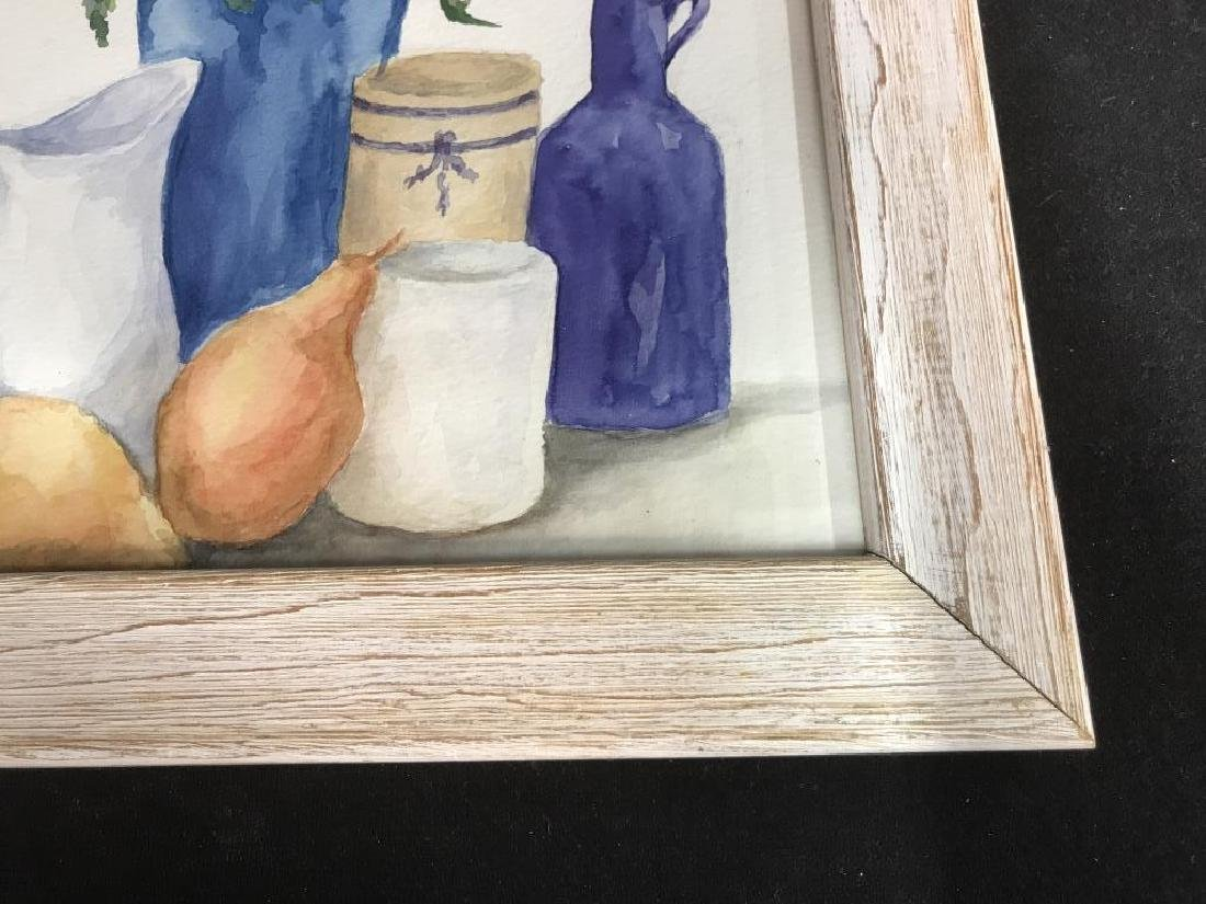 Framed Pair of Watercolor Paintings of Still Life - 10