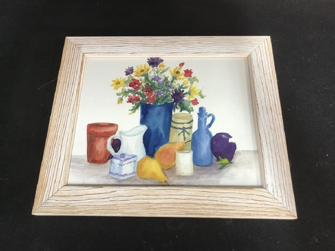 Framed Pair of Watercolor Paintings of Still Life - 2