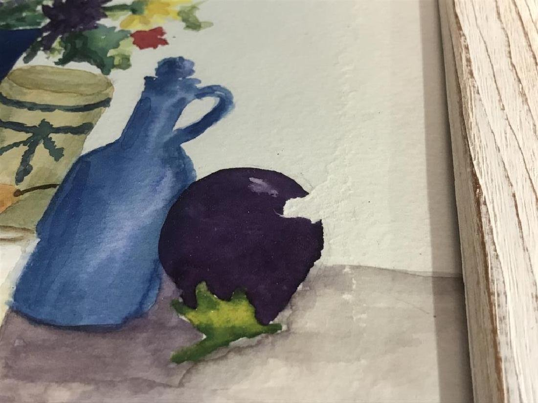 Framed Pair of Watercolor Paintings of Still Life - 4