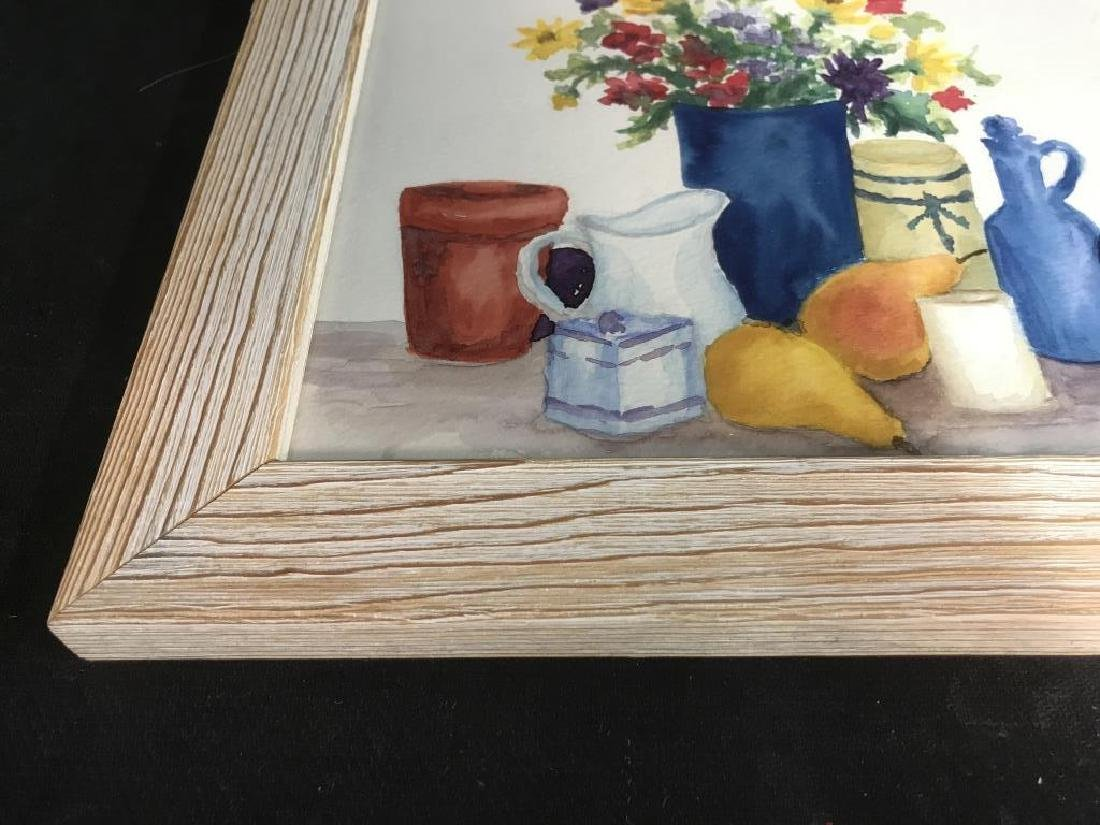 Framed Pair of Watercolor Paintings of Still Life - 5