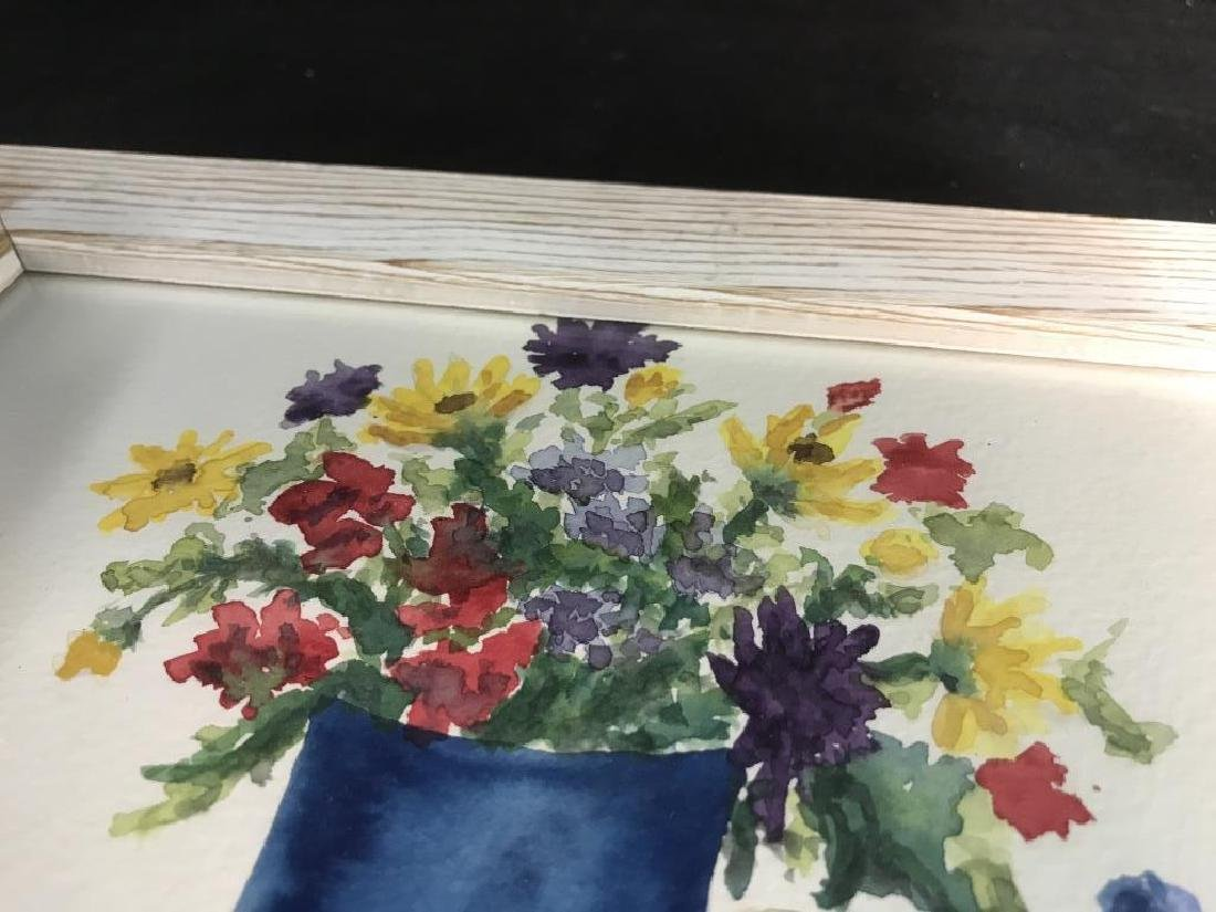 Framed Pair of Watercolor Paintings of Still Life - 6