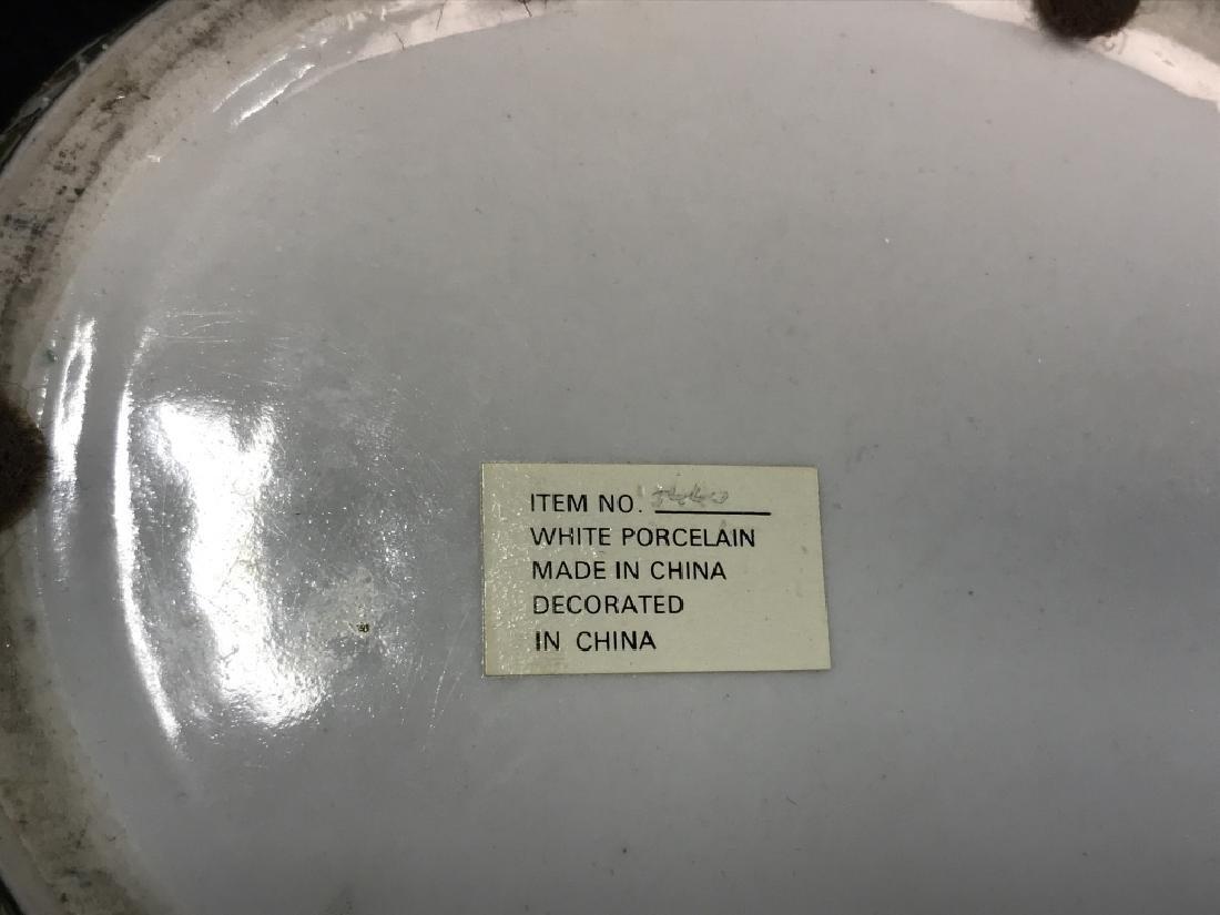 Porcelain Pot W Handles Stylized as Leaf - 8
