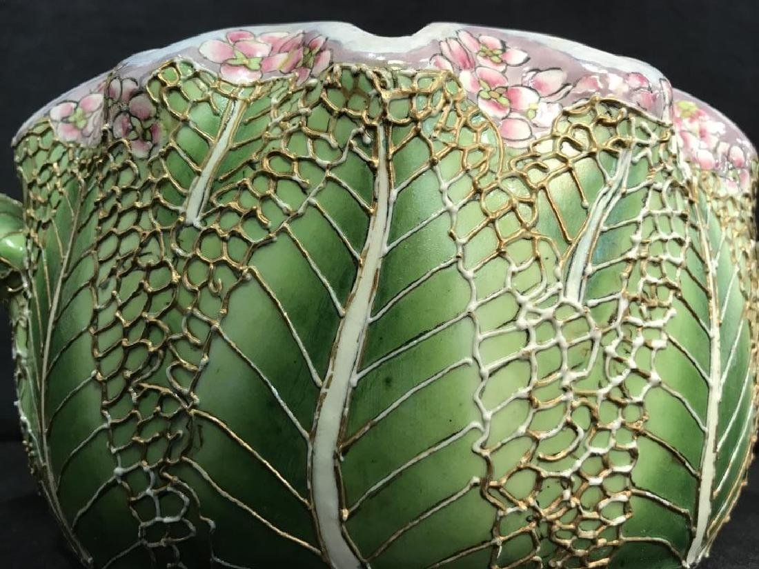 Porcelain Pot W Handles Stylized as Leaf - 9