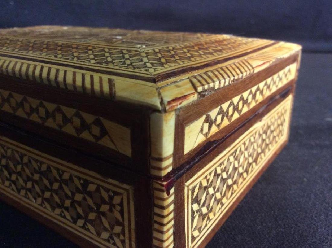 Wood Middle Eastern Mother Of Pearl Mosaic Box - 10