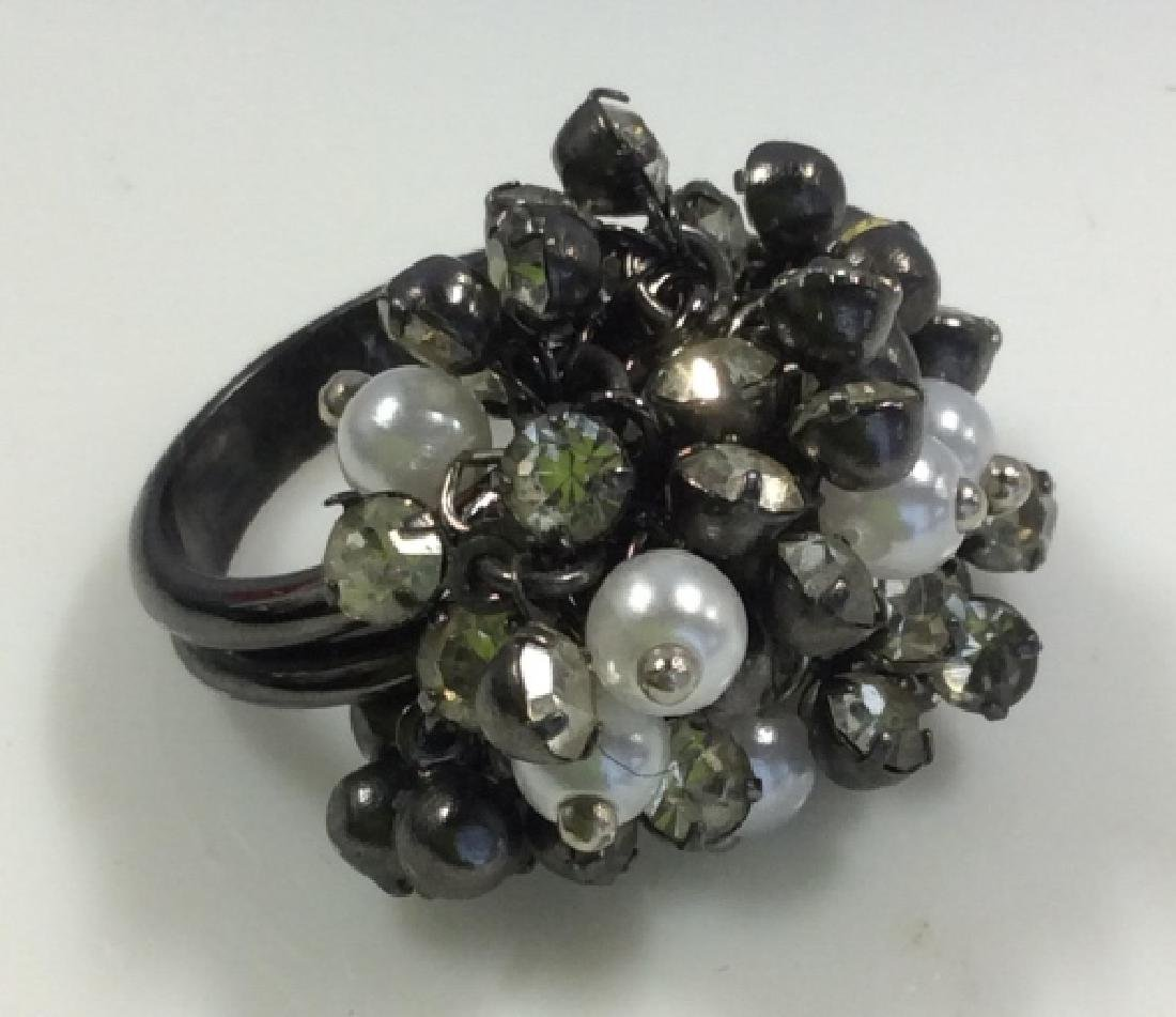 Cluster Beaded Cocktail Ring Jewelry
