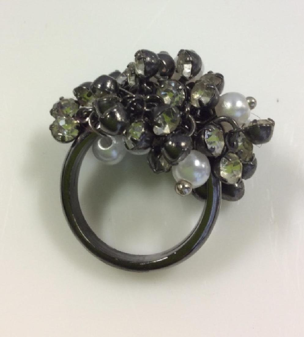 Cluster Beaded Cocktail Ring Jewelry - 4
