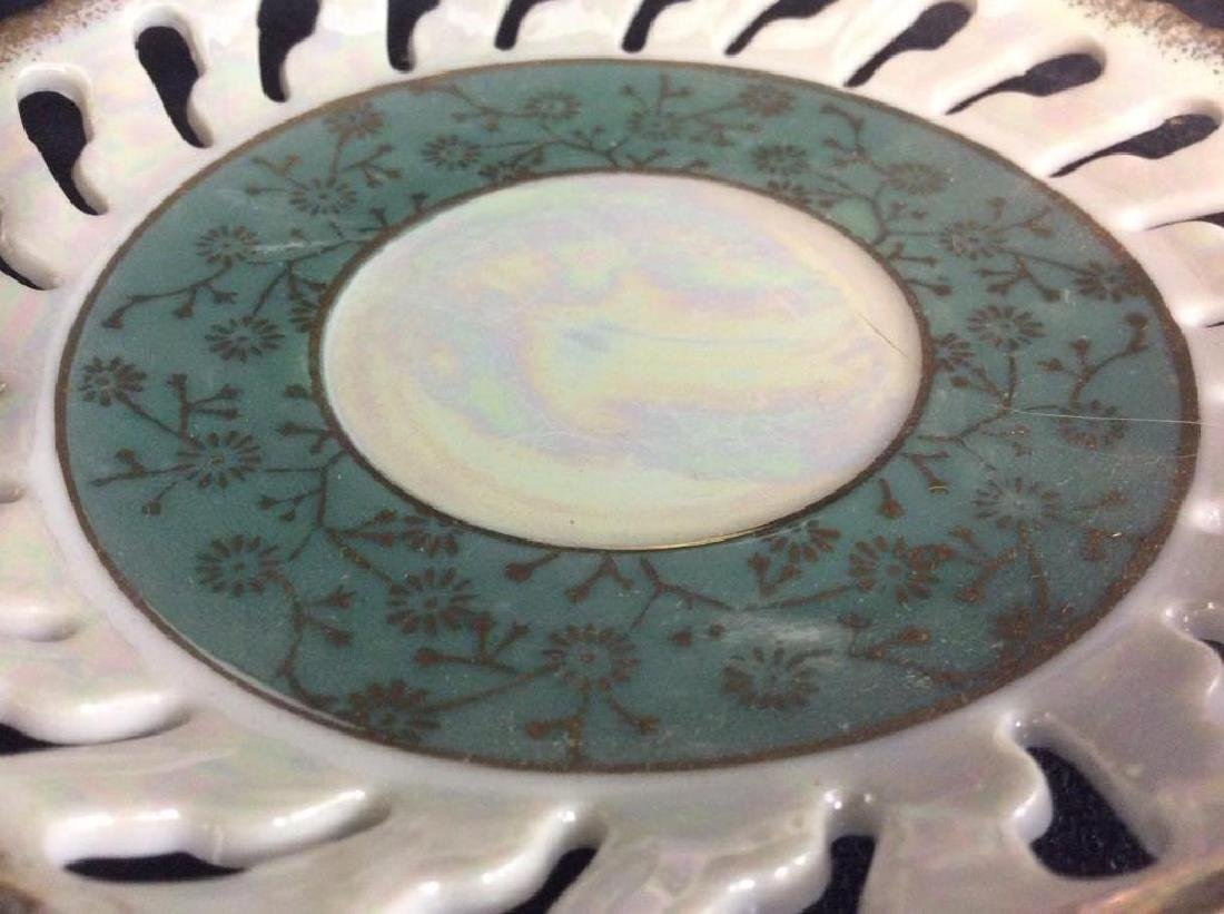 Set of Pearlescent Tea Cups & Saucers - 10