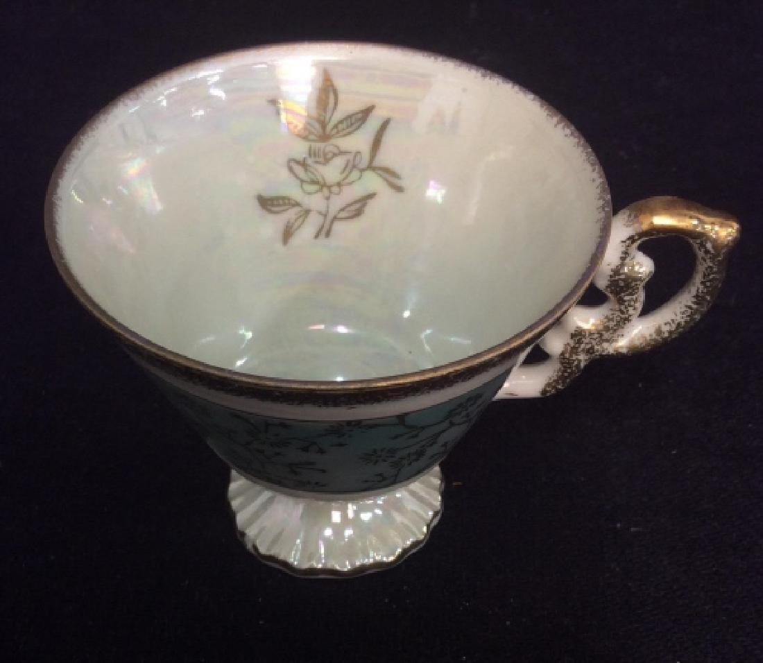 Set of Pearlescent Tea Cups & Saucers - 6