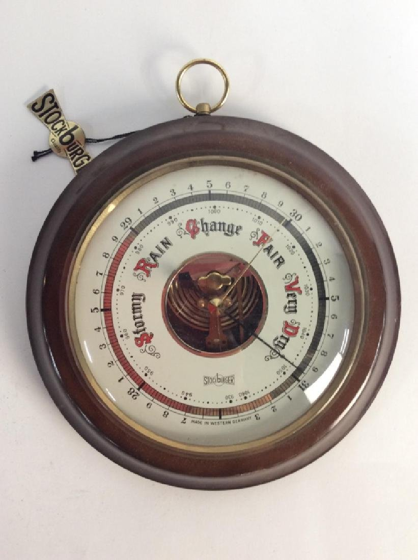 STOCKBURGER Wall Hanging Barometer, Germany - 2