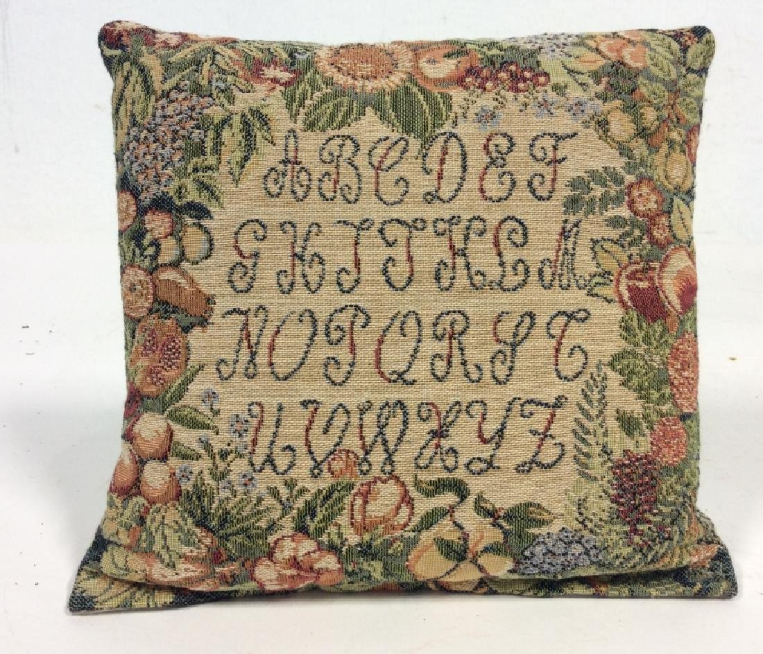 GLOBYS French Tapestry Alphabet Pillow