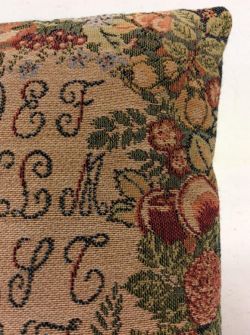 GLOBYS French Tapestry Alphabet Pillow - 4