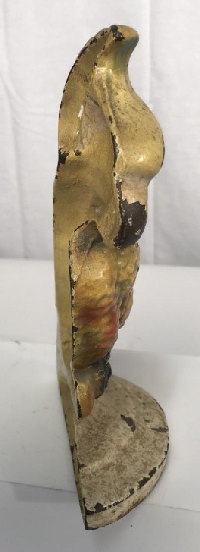 Vintage Cast Iron Cockatoo Doorstop - 7