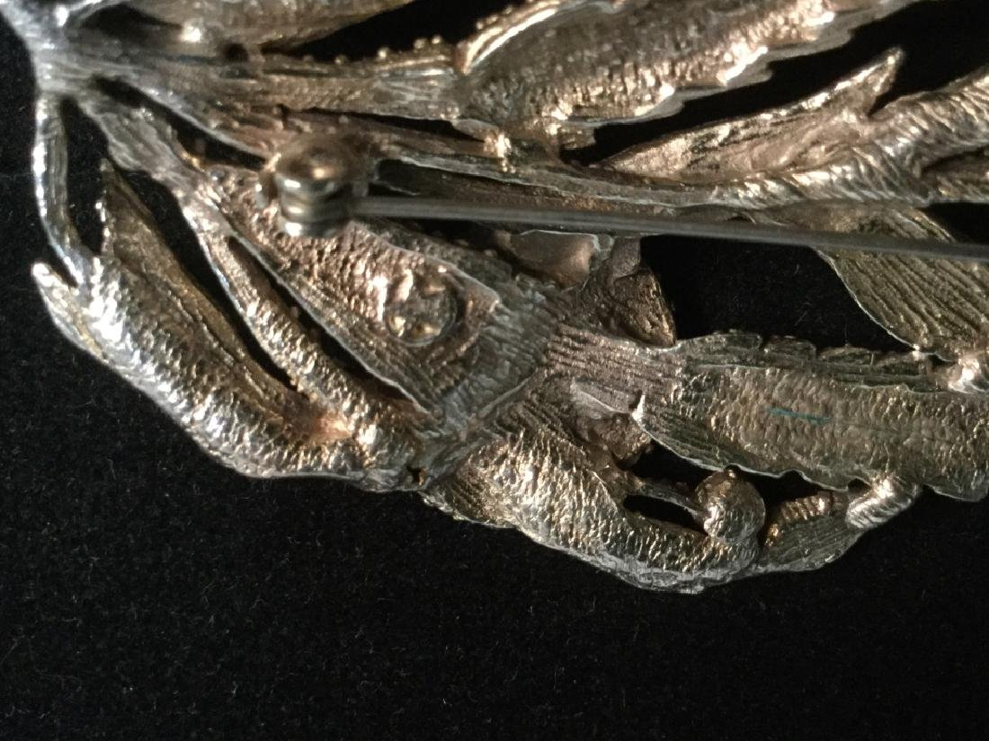Rhinestone Encrusted Flower Brooch - 8