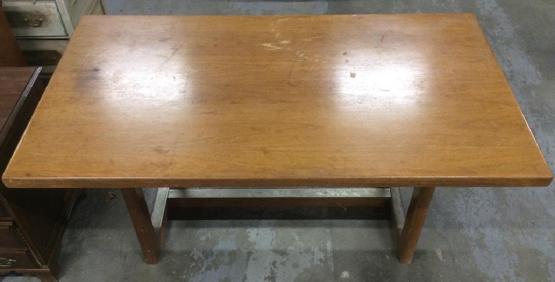 Brown Toned Wooden Dining Table - 3