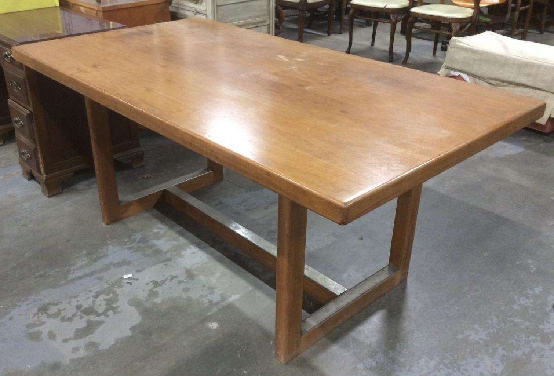 Brown Toned Wooden Dining Table - 4
