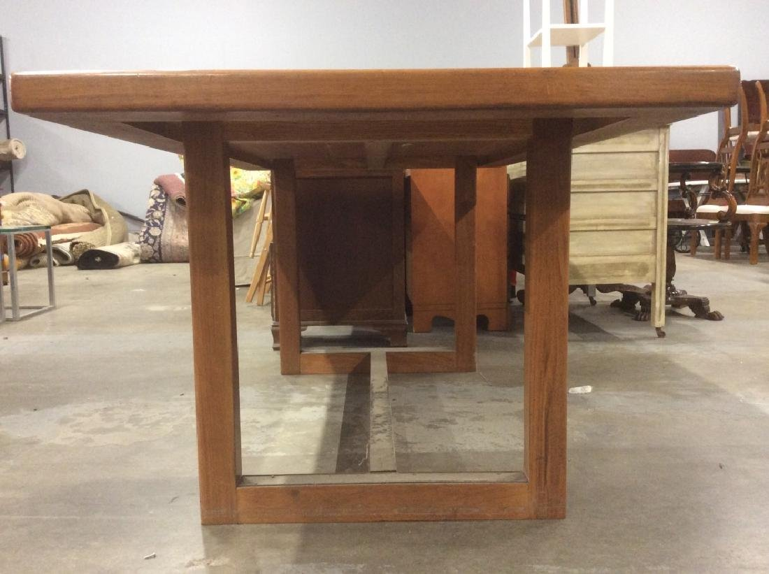 Brown Toned Wooden Dining Table - 5