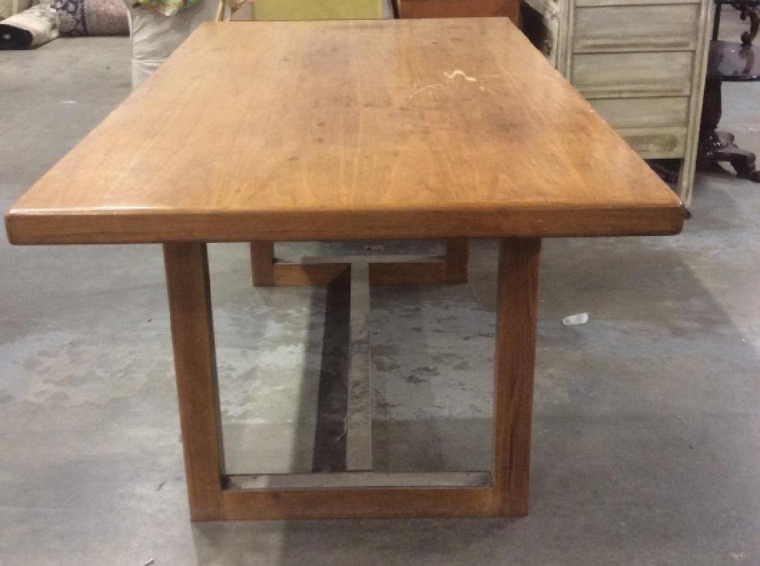 Brown Toned Wooden Dining Table - 6