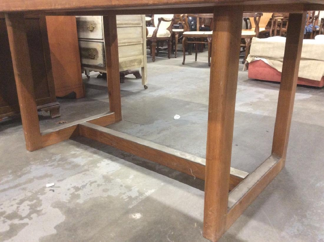 Brown Toned Wooden Dining Table - 7