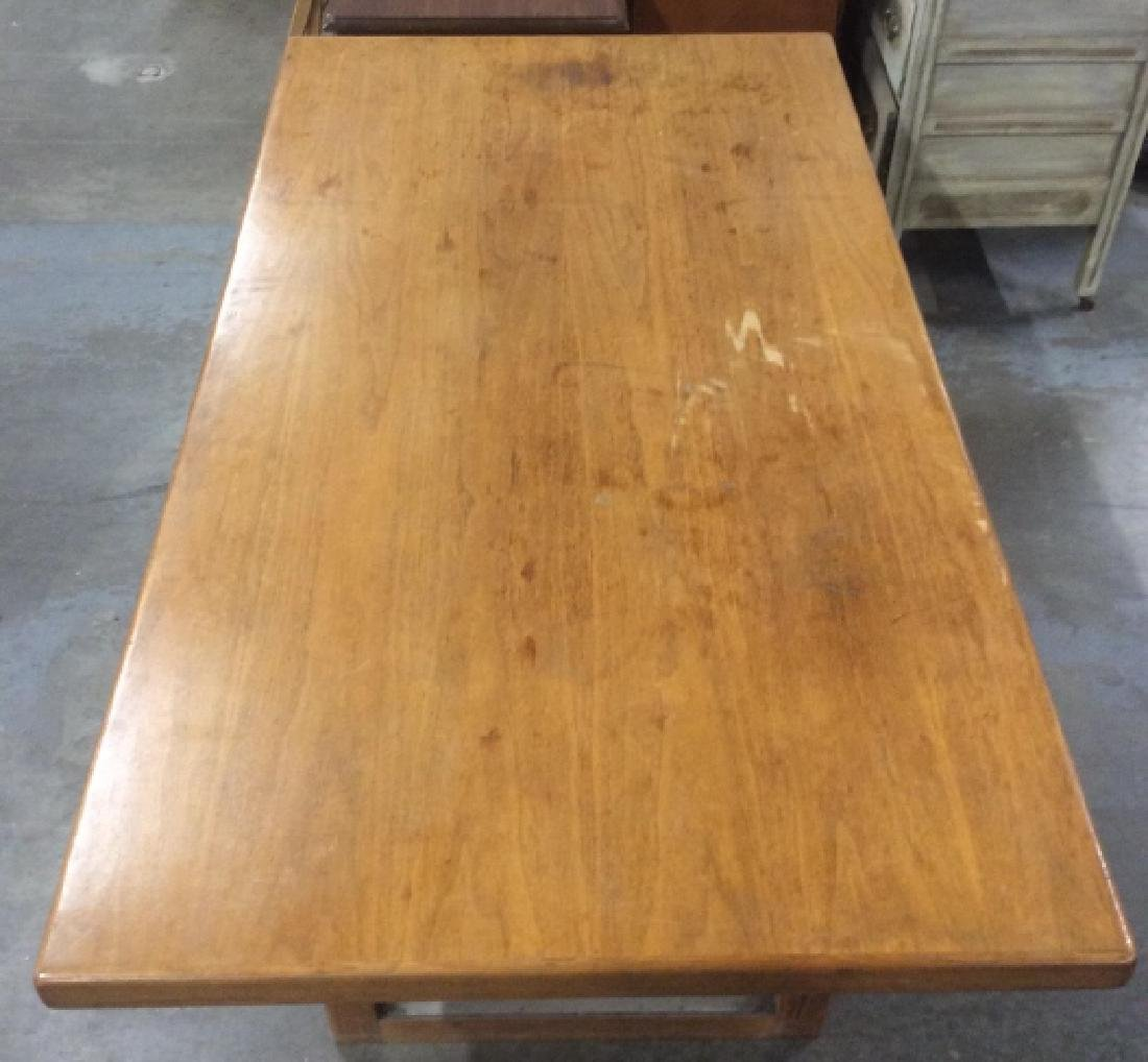 Brown Toned Wooden Dining Table - 8