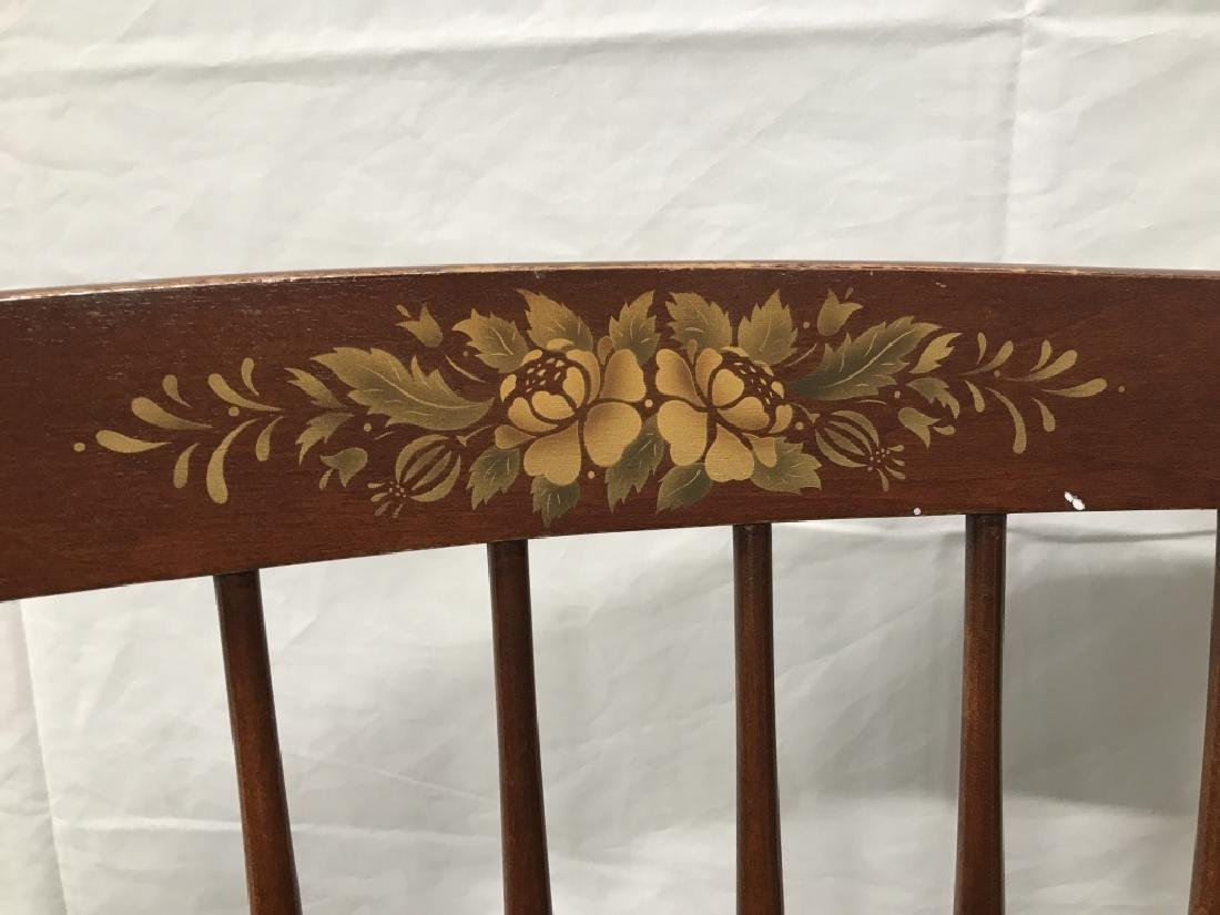 Set 3 L Hitchcock Stenciled Spindle Back Chairs - 5