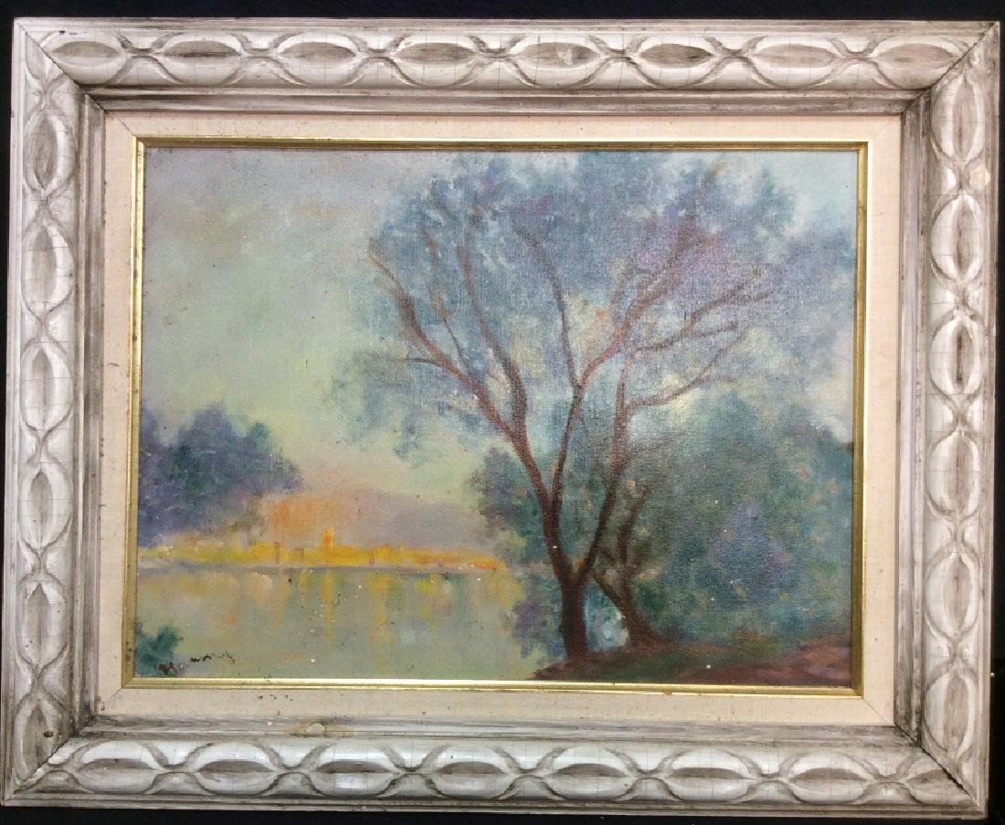 Landscape Painting Framed Oil on Canvas