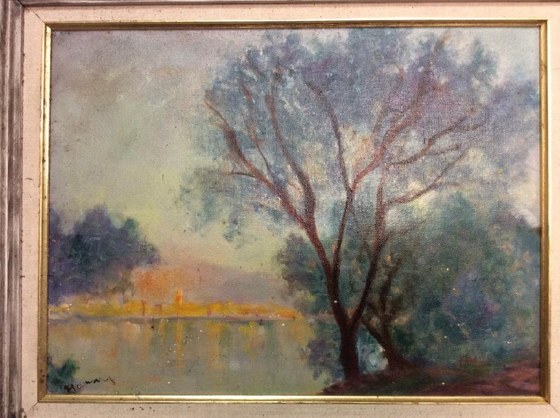 Landscape Painting Framed Oil on Canvas - 2