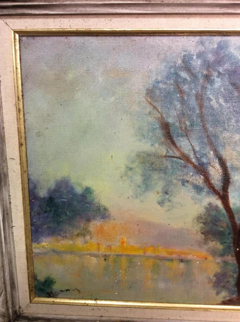Landscape Painting Framed Oil on Canvas - 4